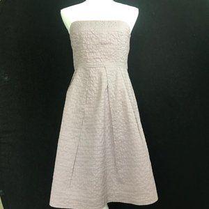 J Crew Women's Lavender Strapless Lined Dress Sz 4